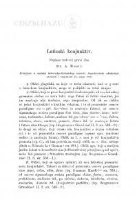 Latinski konjunktiv / A. Musić
