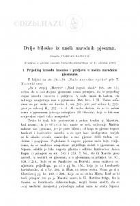 Dvije bileške iz naših narodnih pjesama : <1.> Prijedlog između imenice i pridjeva u našim narodnim pjesmama; 2. Stalni epitet rijeke Neretve / S. Banović