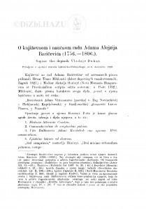 O književnom i naučnom radu Adama Alojzija Baričevića (1756.-1806.) / V. Dukat