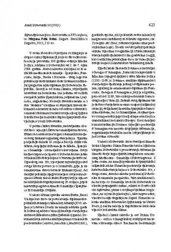Tajna diplomacija u Dubrovniku u XVI stoljeću, ur. Mirjana Polić Bobić. Zagreb: Sveučilište u Zagrebu, 2011. : [prikaz] / Lovro Kunčević