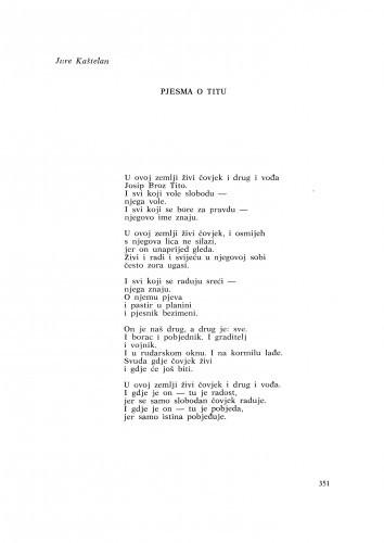 Pjesma o Titu / J. Kaštelan
