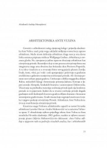 Arhitektonika Ante Vulina / Andrija Mutnjaković