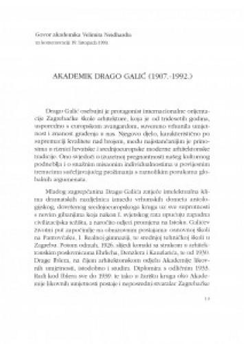 Akademik Drago Galić (1907.-1992.)