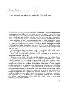 O nekim srednjovjekovnim kamenim dovratnicima / Zorislav Horvat