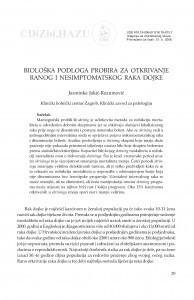 Biološka podloga probira za otkrivanje ranog i nesimptomatskog raka dojke / Jasminka Jakić-Razumović