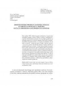 Arhitektonski projekti Antonija Noalea za obitelj Garagnin u Trogiru : kuća za siromaha kao projektni zadatak / Ana Šverko