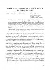 Delimitacija i demarkacija vanjskih granica Republike Hrvatske / Vladimir-Đuro Degan