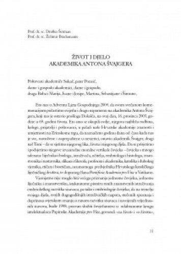 Život i djelo akademika Antona Švajgera / Draško Šerman, Želimir Bradamante