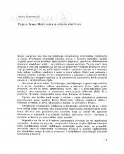 Pojava Ivana Meštrovića u svijetu skulpture / Andre Mohorovičić