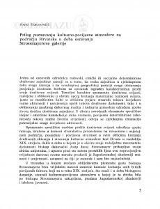 Prilog poznavanju kulturno-povijesne atmosfere na području Hrvatske u doba osnivanja Strossmayerove galerije / Andre Mohorovičić