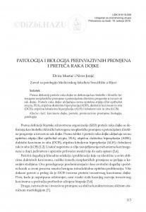 Patologija i biologija preinvazivnih promjena i preteča raka dojke / Elvira Mustać i Nives Jonjić