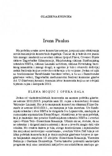 Elena Moşuc i opera gala : glazbena kronika / Irena Paulus