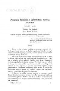 Postanak fizioloških deformiteta nosnog septuma / A. Šercer