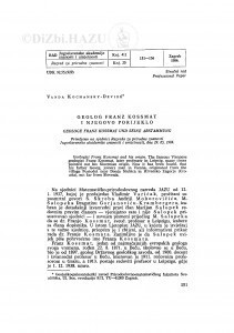 Geolog Franz Kossmat i njegovo porijeklo / V. Kochansky-Devidé