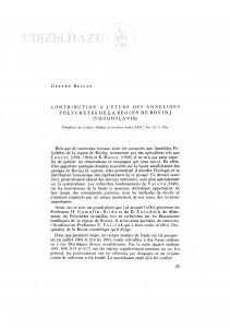 Contribution á l´étude des Annelides Polychetes de la region de Rovinj (Yougoslavie) / G. Bellan