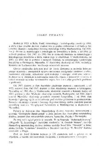 Josef Zemann