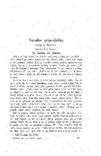 Narodne pripovijetke : (Kale u Bosni) / I. Klarić