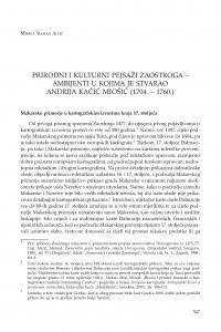 Prirodni i kulturni pejsaži Zaostroga - ambijenti u kojima je stvarao Andrija Kačić Miošić (1704. - 1760.) / Mirela Slukan Altić