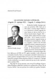 Akademik Smiljko Ašperger : (Zagreb, 25. siječnja 1921.-Zagreb, 3. svibnja 2014.) : (govor na komemoraciji u palači Akademije 5. svibnja 2015.) / Nenad Trinajstić