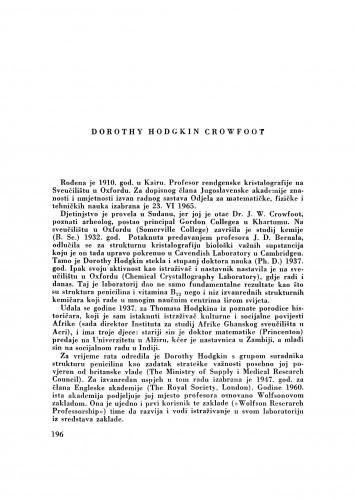 Dorothy Hodgkin Crowfoot