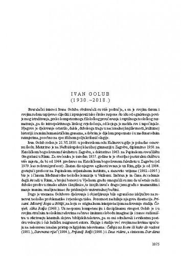 Ivan Golub (1930.-2018.) : [nekrolog] / Tonko Maroević