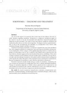Xerostomia - diagnostics and treatment / Marinka Mravak-Stipetić