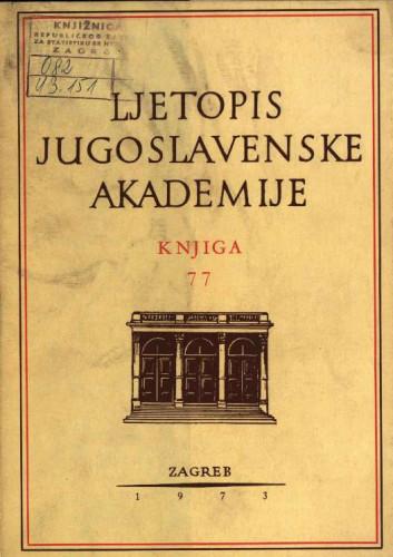 1972. Knj. 77 / urednik Nikola Škreb