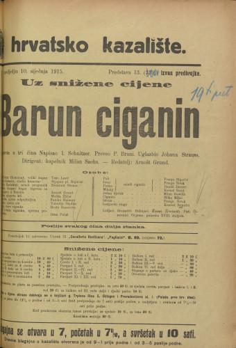 Barun Ciganin Opereta u tri čina