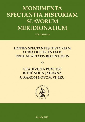 Spisi zadarskoga bilježnika Antonija Calogere (1770.-1772.) : svezak II : Monumenta spectantia historiam Slavorum meridionalium