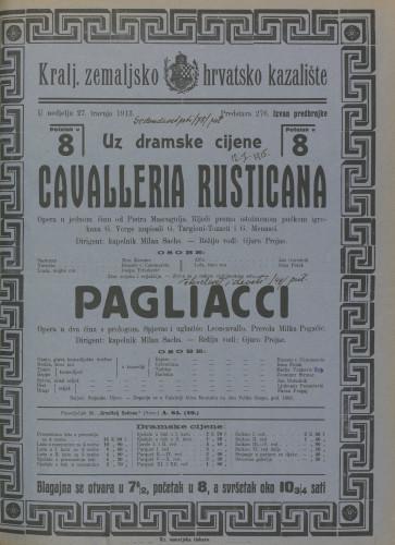 Cavalleria rusticana Opera u jednom činu