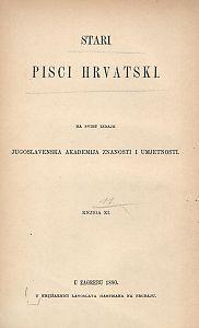 Pjesme Miha Bunića Babulinova, Maroja i Oracija Mažibradića, Marina Burešića; [životopise napisao Fr. Rački] ; tekst za štampu priredio Sebastijan Žepić