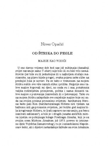 Od štrika do pegle / Nives Opačić