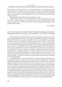 Csaba Szabó, Sanctuaries in Roman Dacia: Materiality and Religious Experience, Archaeopress Roman Archaeology, sv. 49, Oxford 2018. : [prikaz] / Ljubica Perinić