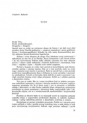 Tito / V. Bakarić