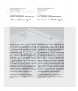 Arhitektonika Miroslava Begovića = The architectonics of Miroslav Begović / Andrija Mutnjaković