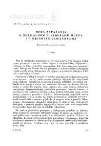 Neka zapažanja o normalnom flebogramu mozga i o njegovim varijantama : rentgenološko-anatomska studija / V. Gvozdanović