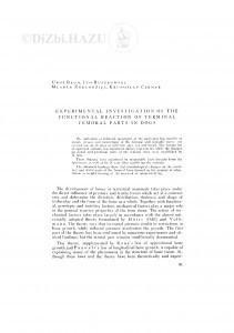 Experimental investigation of the functional Reaction of Terminal femoral parts in dogs / U. Bego, I. Ruszkowski, M. Zobundžija, K. Čermak