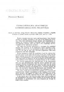 Funkcionalna anatomija lumbosakralnog prijevoja / P. Keros