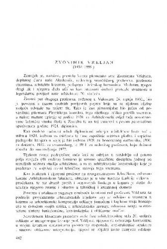 Zvonimir Vrkljan (1902.-1999.) / Andre Mohorovičić