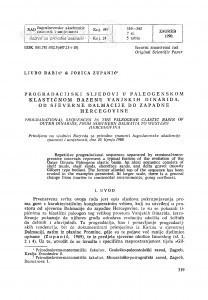 Progradacijski sljedovi u paleogenskom klastičnom bazenu Vanjskih Dinarida, od sjeverne Dalmacije do zapadne Hercegovine / Lj. Babić, J. Zupanič