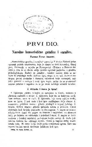 Narodne humoristične gatalice i varalice / P. Jemeršić