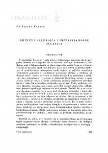 Rihinitis allergica i infekcija nosne sluznice / Ž. Poljak