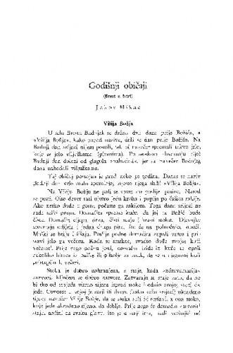Godišnji običaji : (Brest u Istri.) / J. Mikac
