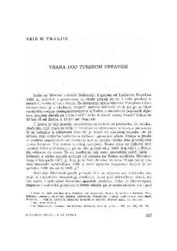 Vrana pod truskom upravom / Seid M. Traljić