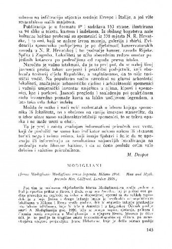 Modigliani / Lj. B.