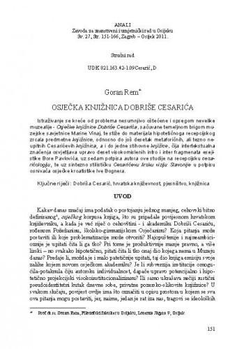 Osječka knjižnica Dobriše Cesarića / Goran Rem