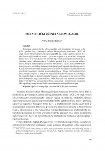 Metabolički učinci akromegalije / Ivana Pavlić-Renar