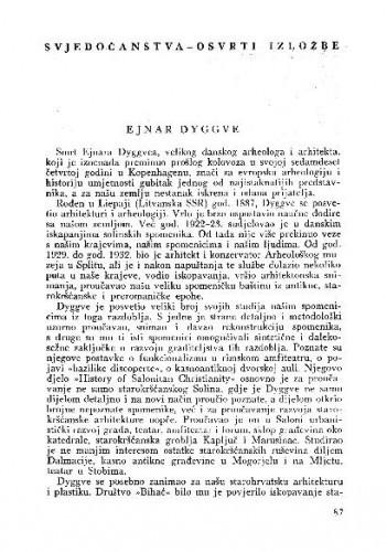 Ejnar Dyggve / Kruno Prijatelj