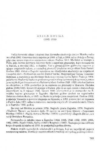 Antun Motika (1902-1992) / Kruno Prijatelj