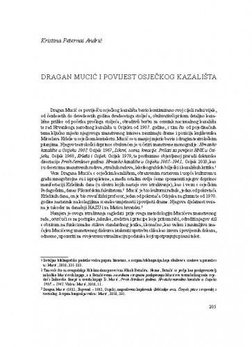 Dragan Mucić i povijest osječkog kazališta / Kristina Peternai Andrić